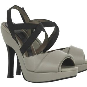 Marni Grey New In Box Leather Strappy Sandals